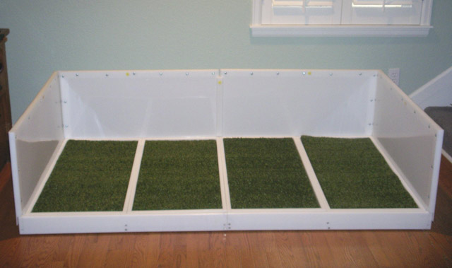 Diy indoor dog potty for big dogs diy projects for Indoor dog bathroom solutions