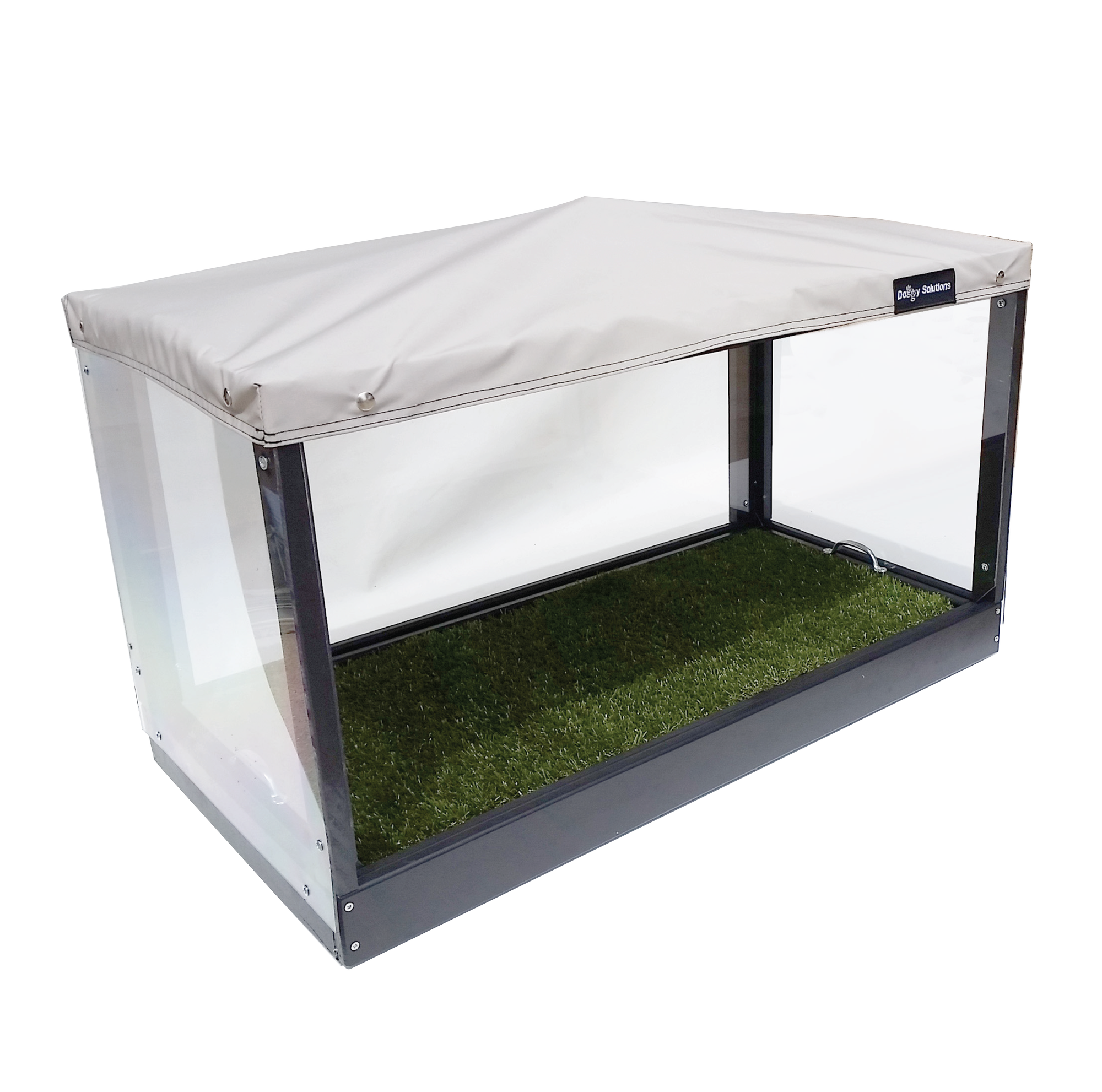 Elevated Canopy Pet Patio Potty u2013 Small  sc 1 st  Doggy Solutions & Elevated Canopy Pet Potty Small Dog Litter Box - Doggy Solutions